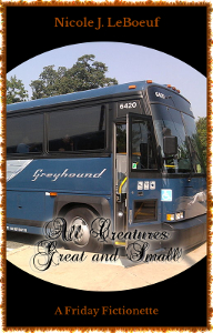 Cover art incorporates a photo of a Greyhound bus by Kevin.B on Wikimedia Commons. Click to see original photo.