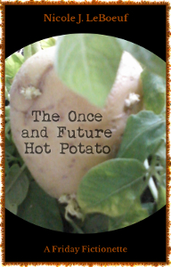 Cover art incorporates photo of my potato plant. This was too subtle, so I added a potato from the grocery store.