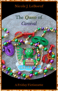 Cover art includes original photography by the author, who has amassed quite the collection of Mardi Gras beads.