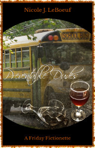 Cover art attributions: School bus photo by Die4kids (Own work, CC BY-SA 3.0) via Wikimedia Commons; wine glasses photo by Agnali (CC0/Public Domain) via Pixabay.com