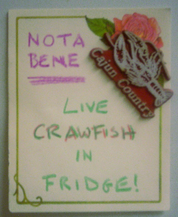 Because John would probably appreciate the warning/reminder before opening the fridge door.
