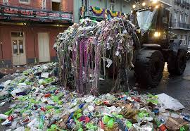 The unsung heroes of Mardi Gras, and the mountains of waste they have to clear.